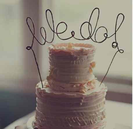Fun Wedding Cake Topper