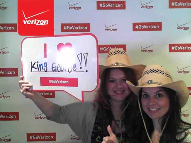 Betsy Mitchell & Molly Thornberg - Verizon Wireless Suite - George Strait Concert Dallas