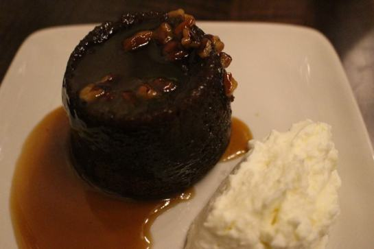 Toffee Pudding Dessert at Clark Food and Wine Co