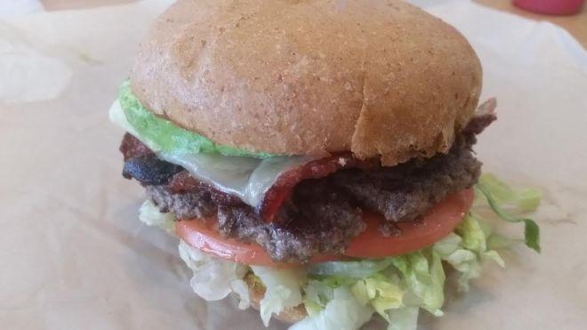 Burger at Start Restaurant