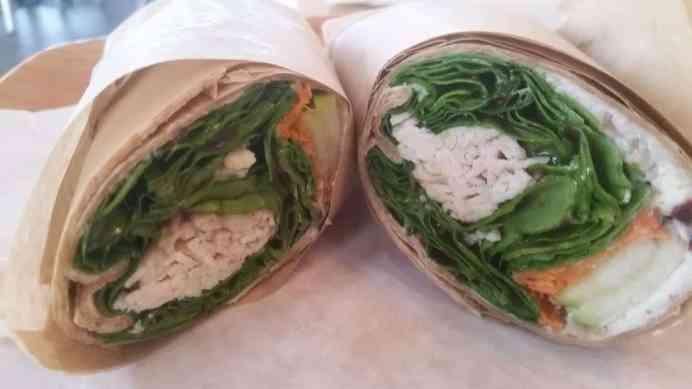 Turkey and Raspberry Chipotle Wrap at Start Restaurant