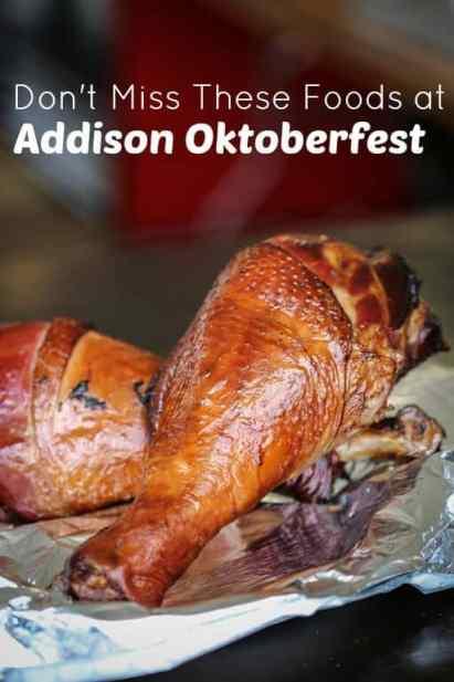 Food at Addison Oktoberfest