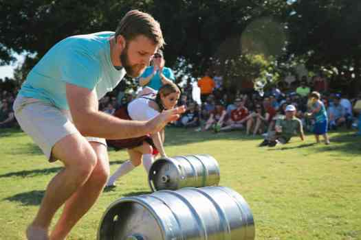 Bier Barrel Rolling at Addison Oktoberfest