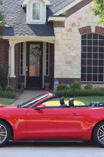 A Look Inside the  Convertible Ford Mustang