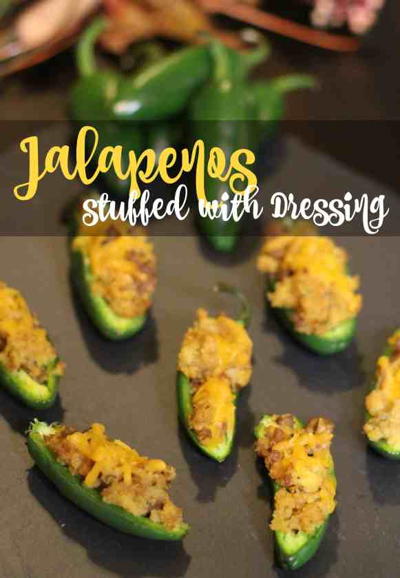 Jalapenos stuffed with Dressing - a great addition to your Thanksgiving Dinner