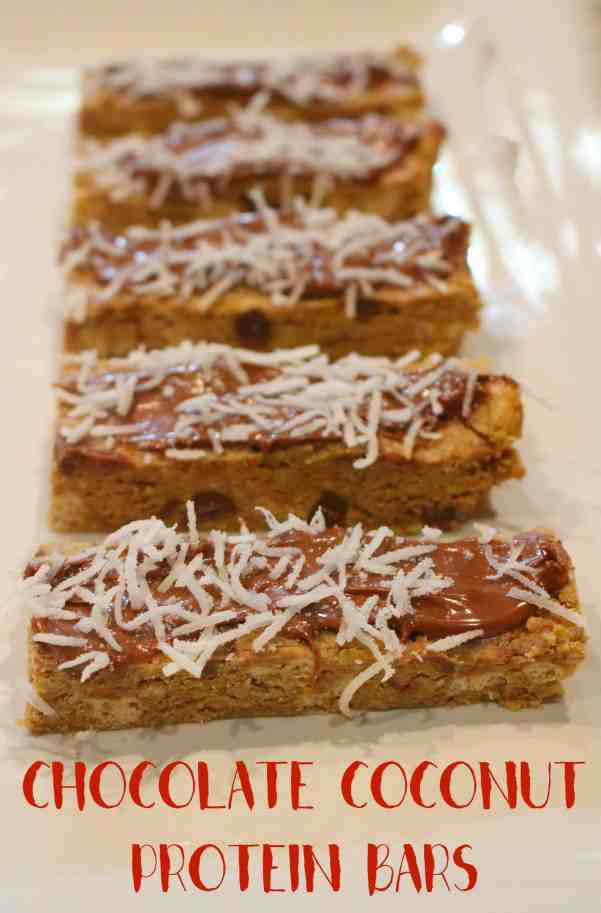 NO Bake Chocolate Coconut Protein Bars