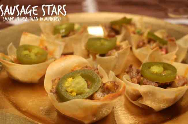 Sausage Stars made in less than 10 minutes