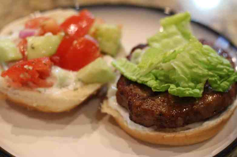 Homemade Greek Burger with a twist