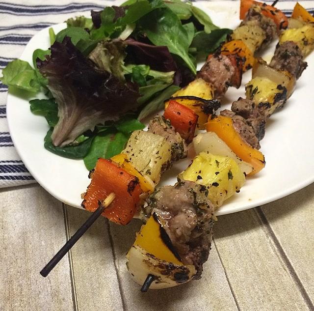 Ham and Pineapple Kebabs