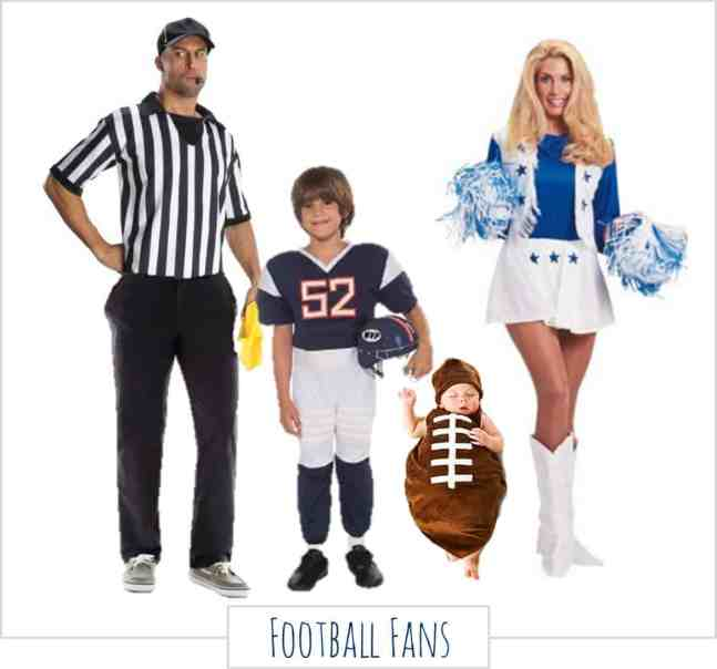 Family Halloween Costumes - Football Fans