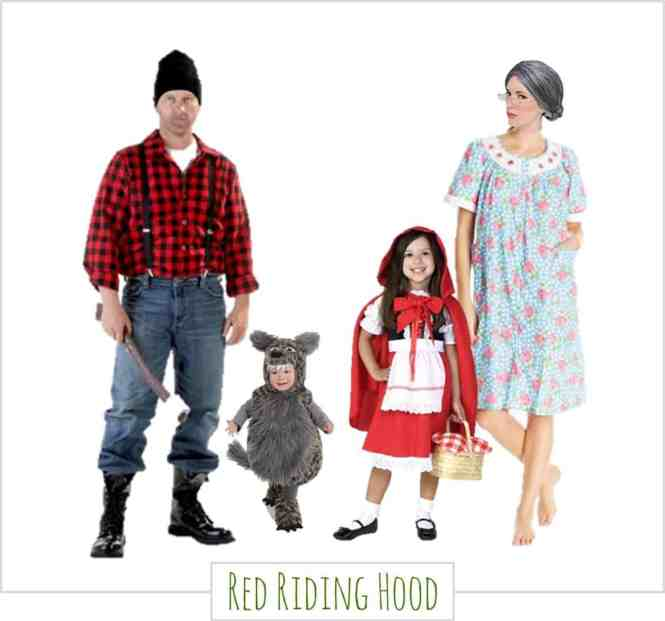 Family Halloween Costumes - Red Riding Hood