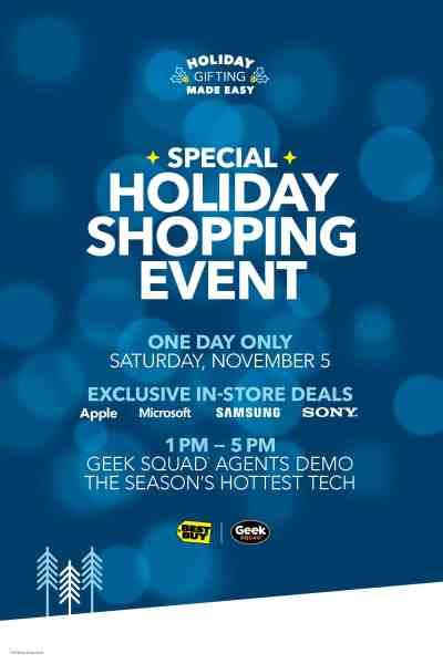 Don't Miss This One Day Best Buy Holiday Shopping Event