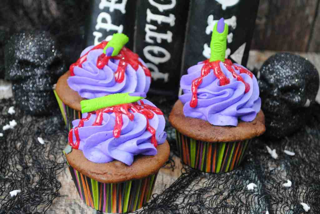 Witch Finger Cupcakes