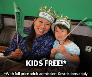 Kid's Eat FREE At Medieval Times This Summer