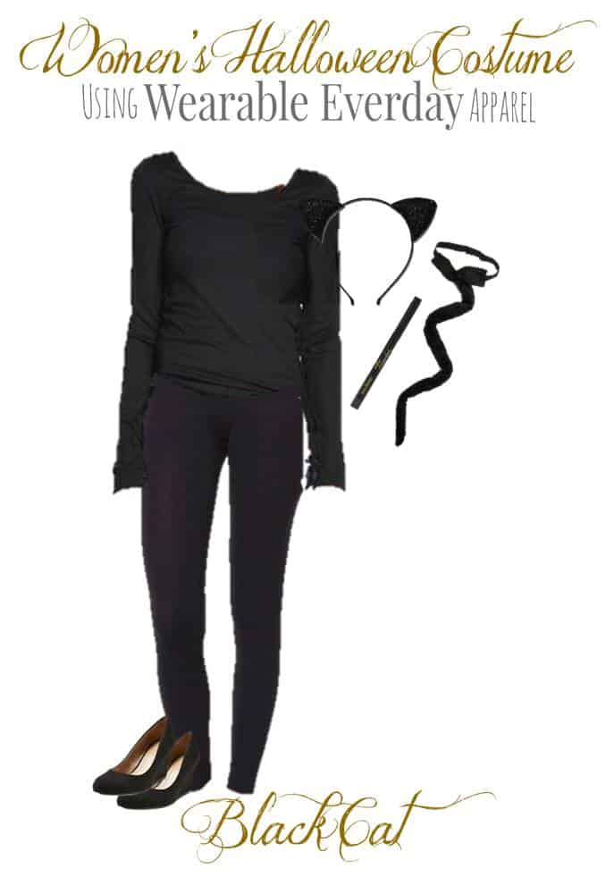 Dress like a Black Cat with items already in your closet! All you need is the 6 items below! The black eyeliner is to draw whiskers on your cheeks.  sc 1 st  The Dallas Socials & Easy Halloween Costumes for Women | Dallas Socials