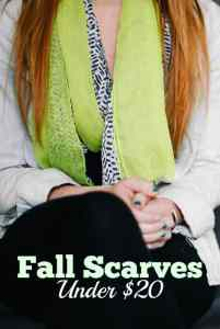 Fall Scarves Under $20