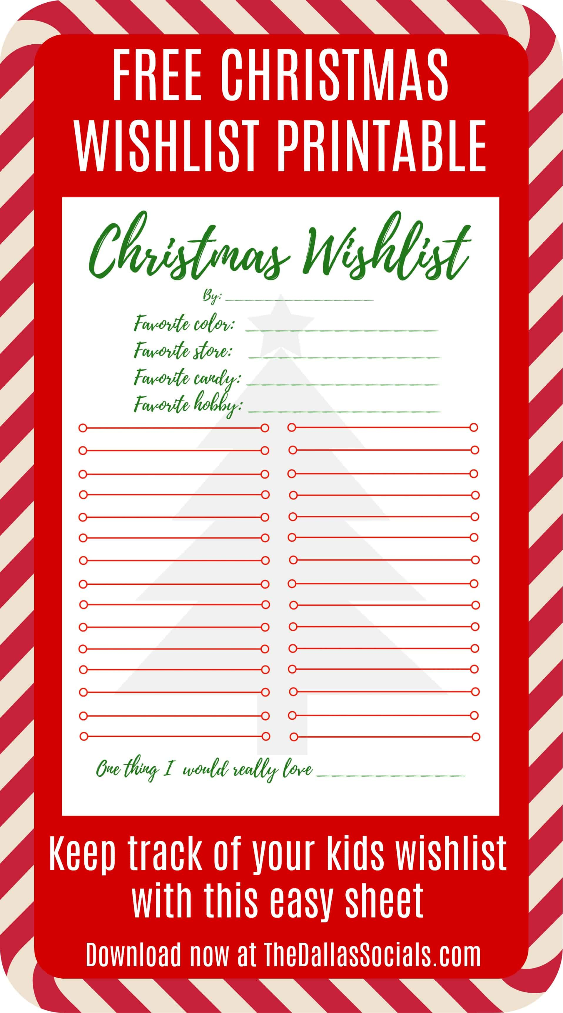easy shopping list template