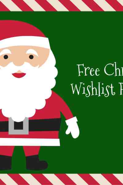 Free Christmas Wishlist Printable