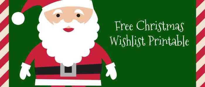 Free Christmas Wishlist Printable