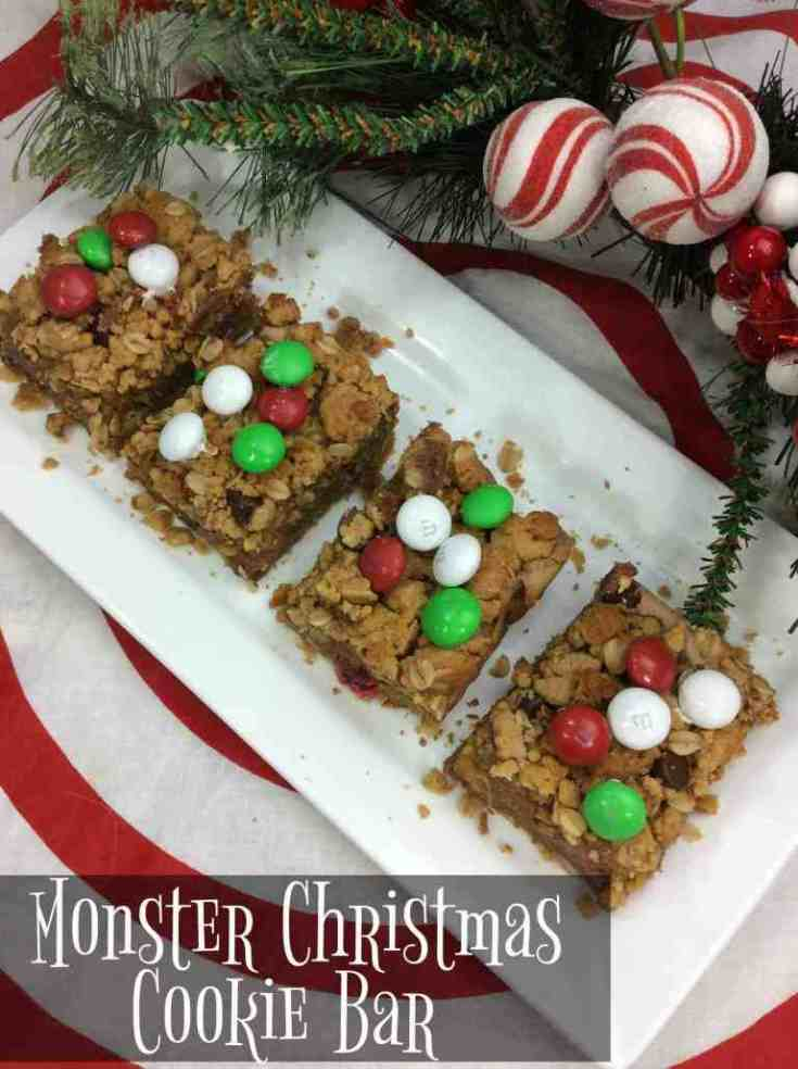 Monster Cookie Christmas Bars