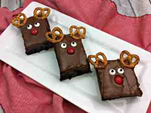Easy Reindeer Brownies