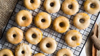 Baked Pumpkin Donuts with Brown Butter Glaze