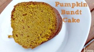 Pumpkin Bundt Cake Perfect For Fall!