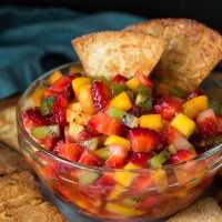 Fruit Salsa (with Cinnamon Tortilla Chips)