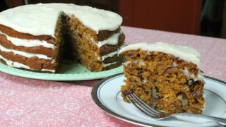 Pumpkin Carrot Cake Recipe with Easy Cream cheese Frosting