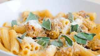 Rigatoni with Spicy Pumpkin and Sausage Sauce Recipe