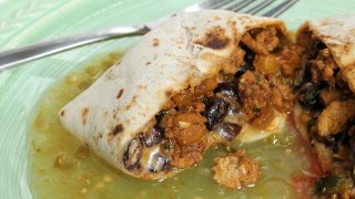 Turkey, Pumpkin and Black Bean Burritos (with Turkey-Pumpkin Filling Recipe)