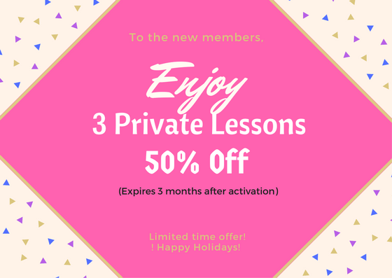 3 Private Lessons ($ 300 Value) (New Clients) Image