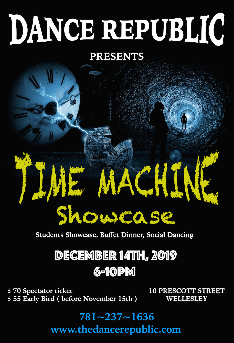 Time Machine – Showcase, Dinner and Social Dance party