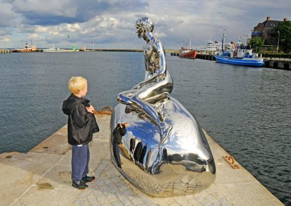 """han"" Sculpture In Helsing Denmark - Danish Pioneer"