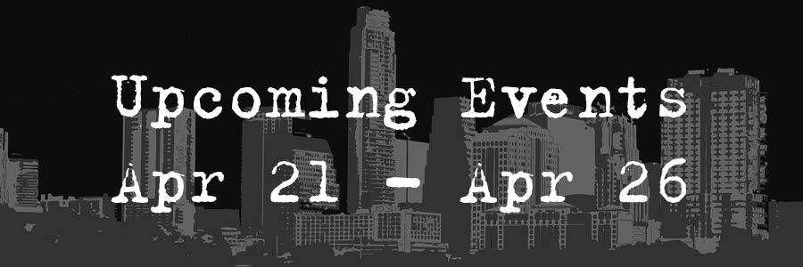 Upcoming Event Apr 21- Apr 26