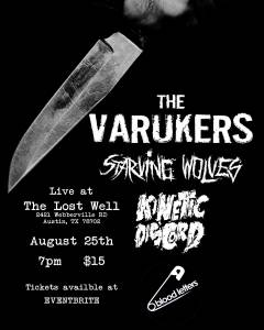 Varukers, Starving Wolves, Kinetic Discord, Blood Letters