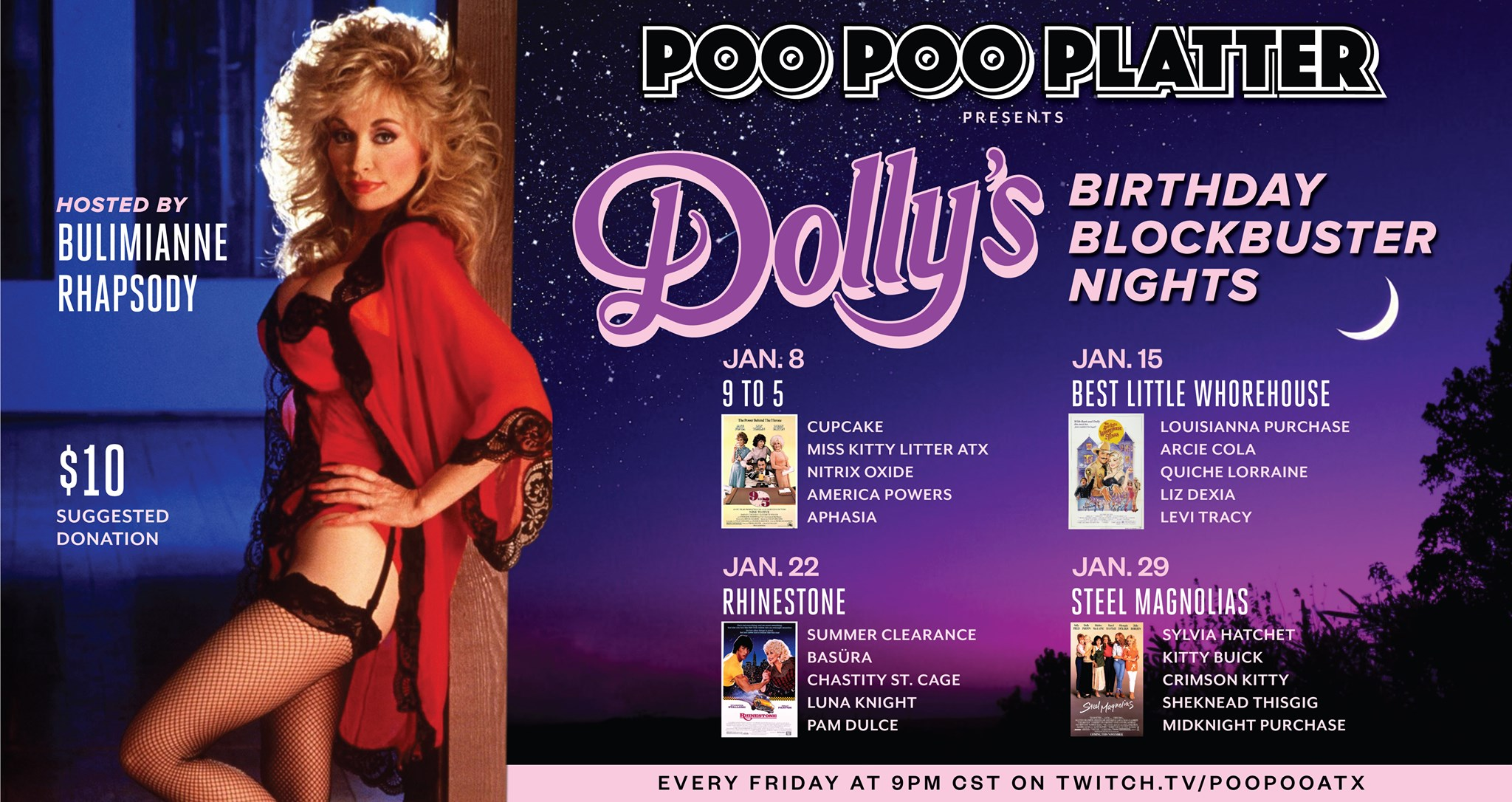 Dolly's Bday Blockbuster Nights: Steel Magnolias