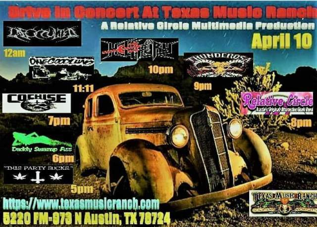 Drive In Concert April 10th At Texas Music Ranch