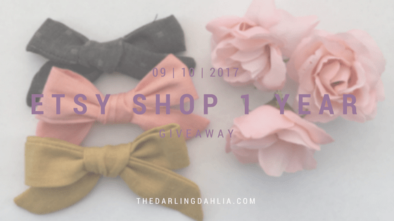 Blog & Etsy Anniversary GIVEAWAY!