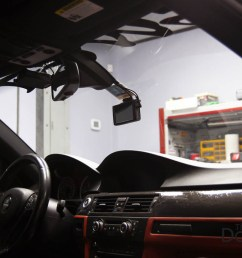 blackvue dr750lw 2ch front and rear dash cam installed in 2008 bmw 3 series e92 [ 1275 x 850 Pixel ]