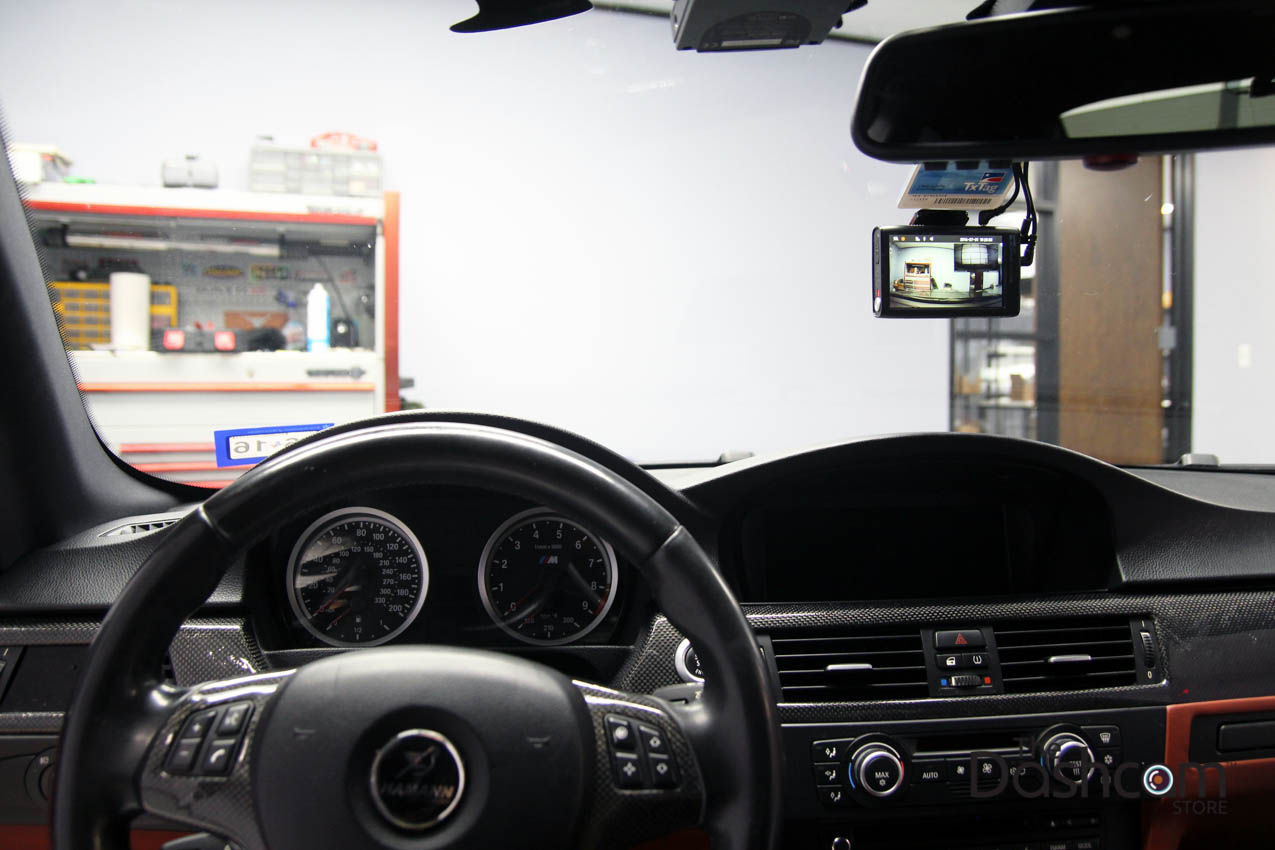 hight resolution of blackvue dr750lw 2ch front and rear dash cam installed in 2008 bmw 3 series e92