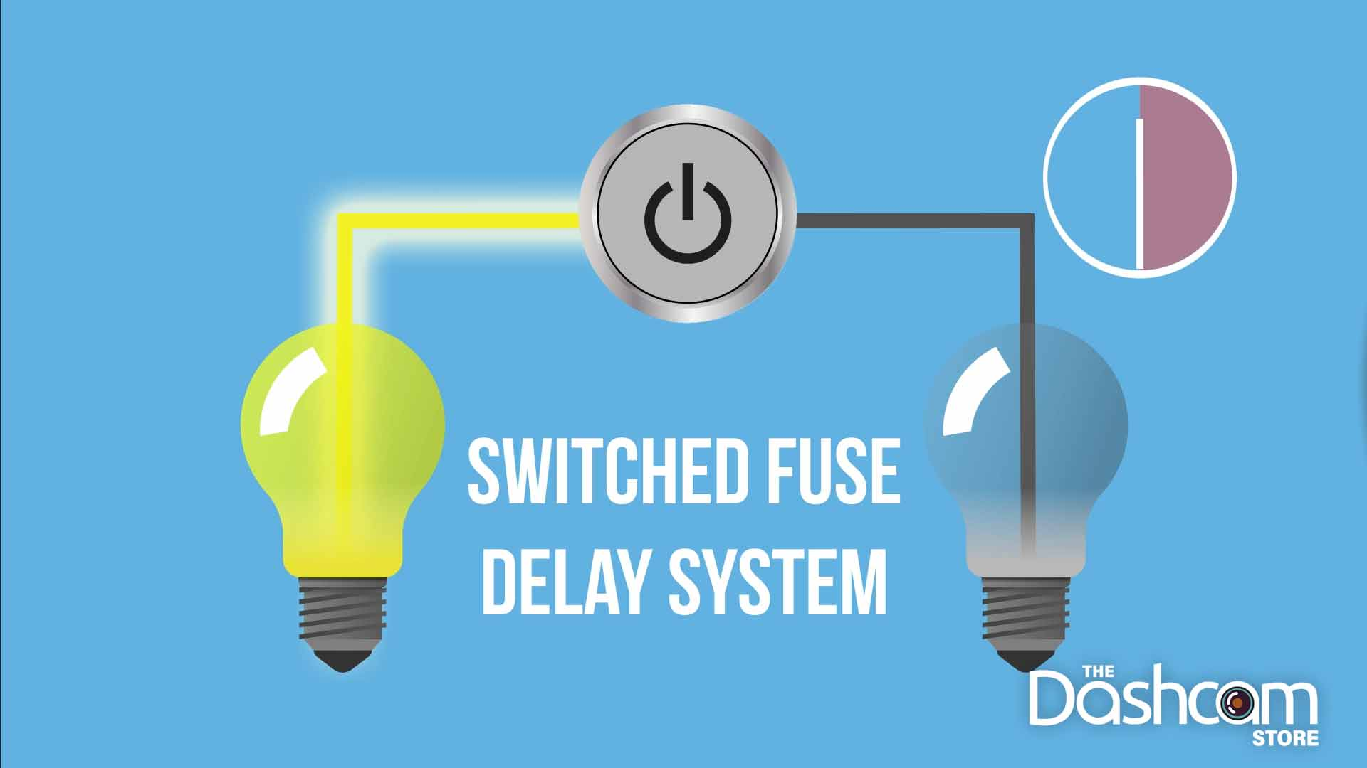 hight resolution of switched fuse delay systems keeps switched fuse circuits on for up to 30 minutes after