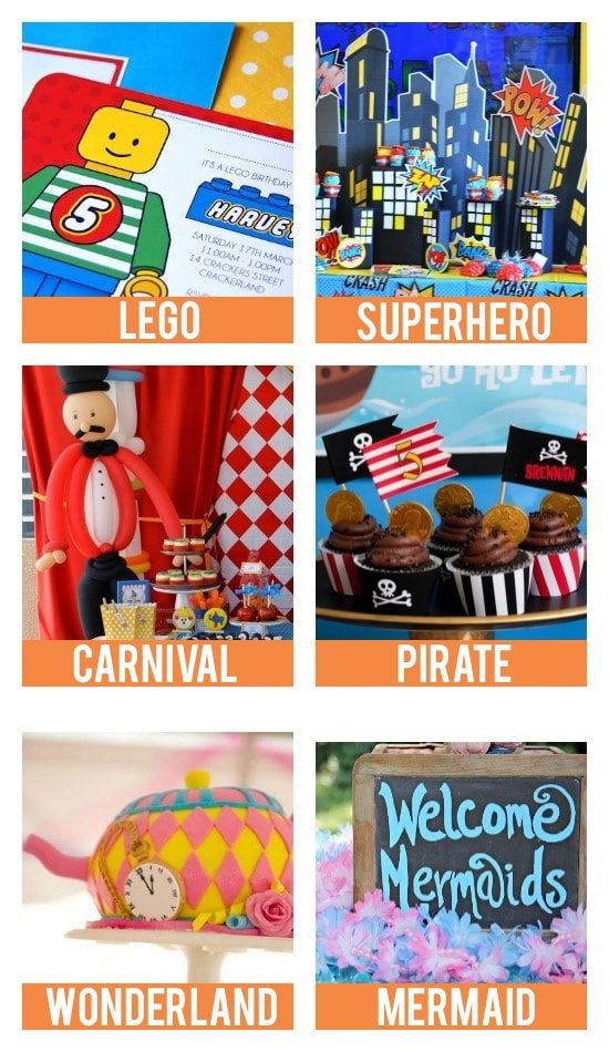 birthday party themes and