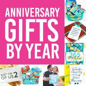 Anniversary Gift Ideas By Year