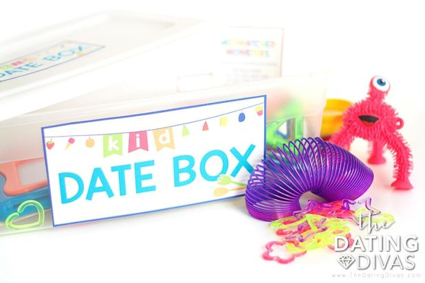 The Kid Date Box lets you have a date night even when you don't have a babysitter!