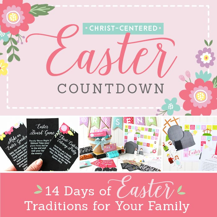 What an awesome pack of Easter printables to countdown to Easter Sunday and keep Christ the focus of the holiday.