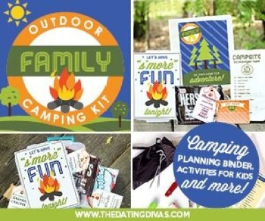 The cutest ideas for a family camp-out!