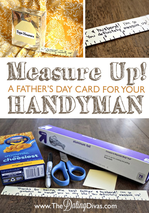 Measure Up Father's Day Card DIY Tutorial