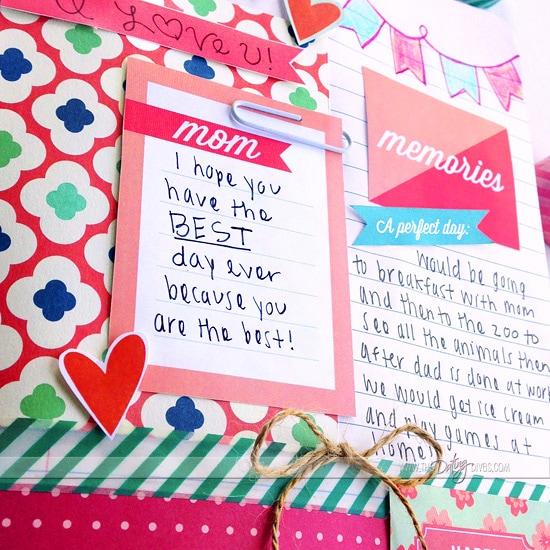 Mother's Day Journal with adorable embellishments!