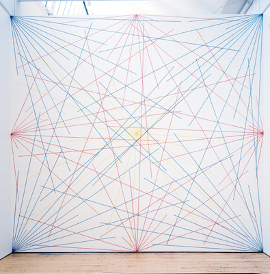sol-lewitt-wall-drawing-273-lines-to-points-on-a-grid-1975